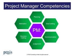 Project Manager Competencies - From PMIS Consulting
